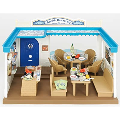 Calico Critters Family Seaside Restaurant - Calico Critters House/Store Perfect for all Animal Visitors - Over 70 Pieces Included - Promotes Cognitive Development - Create Your Own Calico Village: Toys & Games