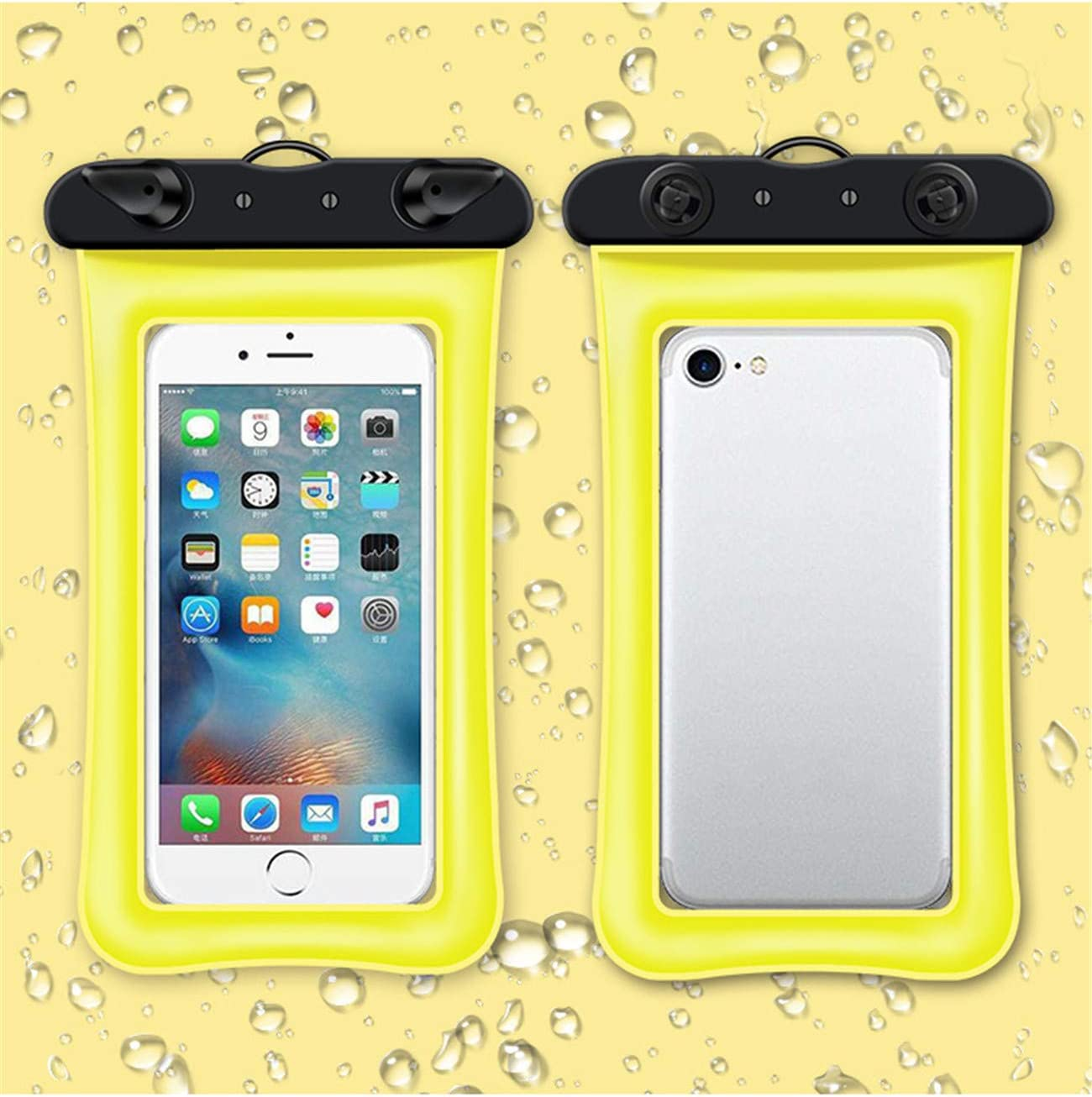 LNLW Diving Swimming Underwater Photography Dustproof Anti-Fall Transparent Buoyancy Waterproof Mobile Phone Bag 2 Pack