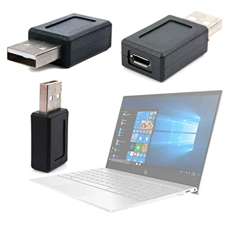 DURAGADGET Adaptador USB (Macho) A Micro USB (Hembra) para Portátil HP Envy