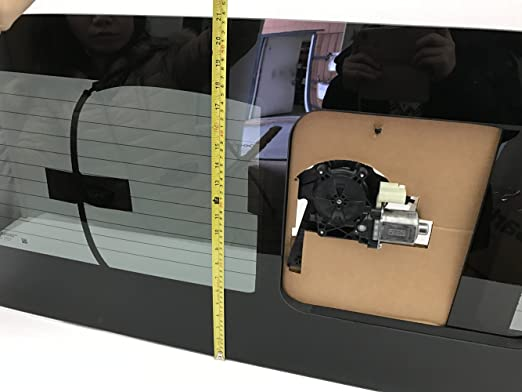 NAGD OE W//Logo W//Motor Heated Sliding Back Window Glass Back Power Slider Compatible with Ford F250//F350//F450//F550//F650//F750 Pickup 2017-2020 Models