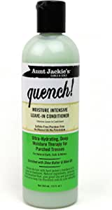 Aunt Jackie's Quench, Moisture Intensive Leave-in Conditioner, Ultra-Hydrating, Deep Moisture Therapy for Parched Hair, 12 Ounce Bottle