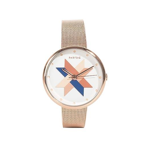 Parfois - Reloj Round - Mujeres - Tallas Única - Dorado: Amazon.es: Relojes