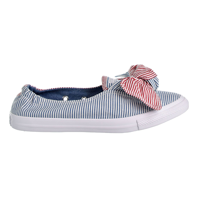 9ae32759e713fd Galleon - Converse Women s Knot Striped Chambray Slip On Sneaker ...