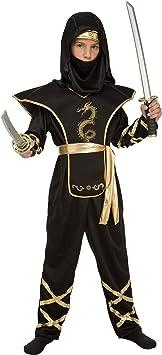 My Other Me Me-204886 Disfraz de ninja para niño, color negro, 7-9 ...