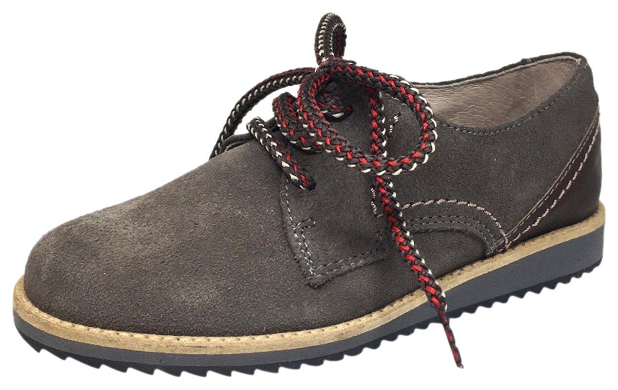 Hoo Shoes Boy's Howard's Suede Leather Multicolor Lace Up Platform Oxford Shoe