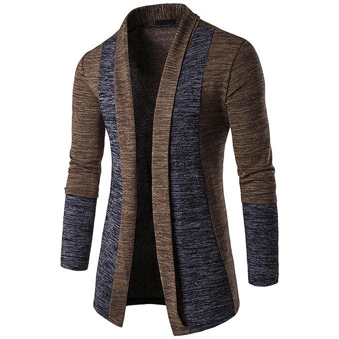 Logobeing Cardigans Para Hombre, Cárdigan de Punto de Hombre, Suéter Chaqueta de Hombre Sudadera Para Hombre: Amazon.es: Ropa y accesorios