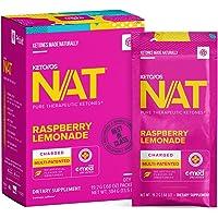 Keto//OS NAT® Raspberry Lemonade Keto Supplements – Charged - Exogenous Ketones - BHB Salts Ketogenic Supplement for…
