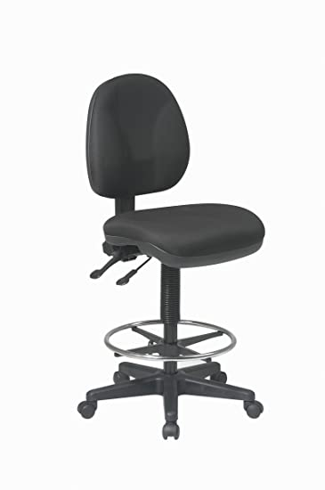 Office Star Deluxe Ergonomic Seat and Back Pneumatic Drafting Chair with  Lumbar Support and Adjustable ChromedAmazon com  Office Star Deluxe Ergonomic Seat and Back Pneumatic  . Office Star Height Adjustable Drafting Chair With Footring. Home Design Ideas