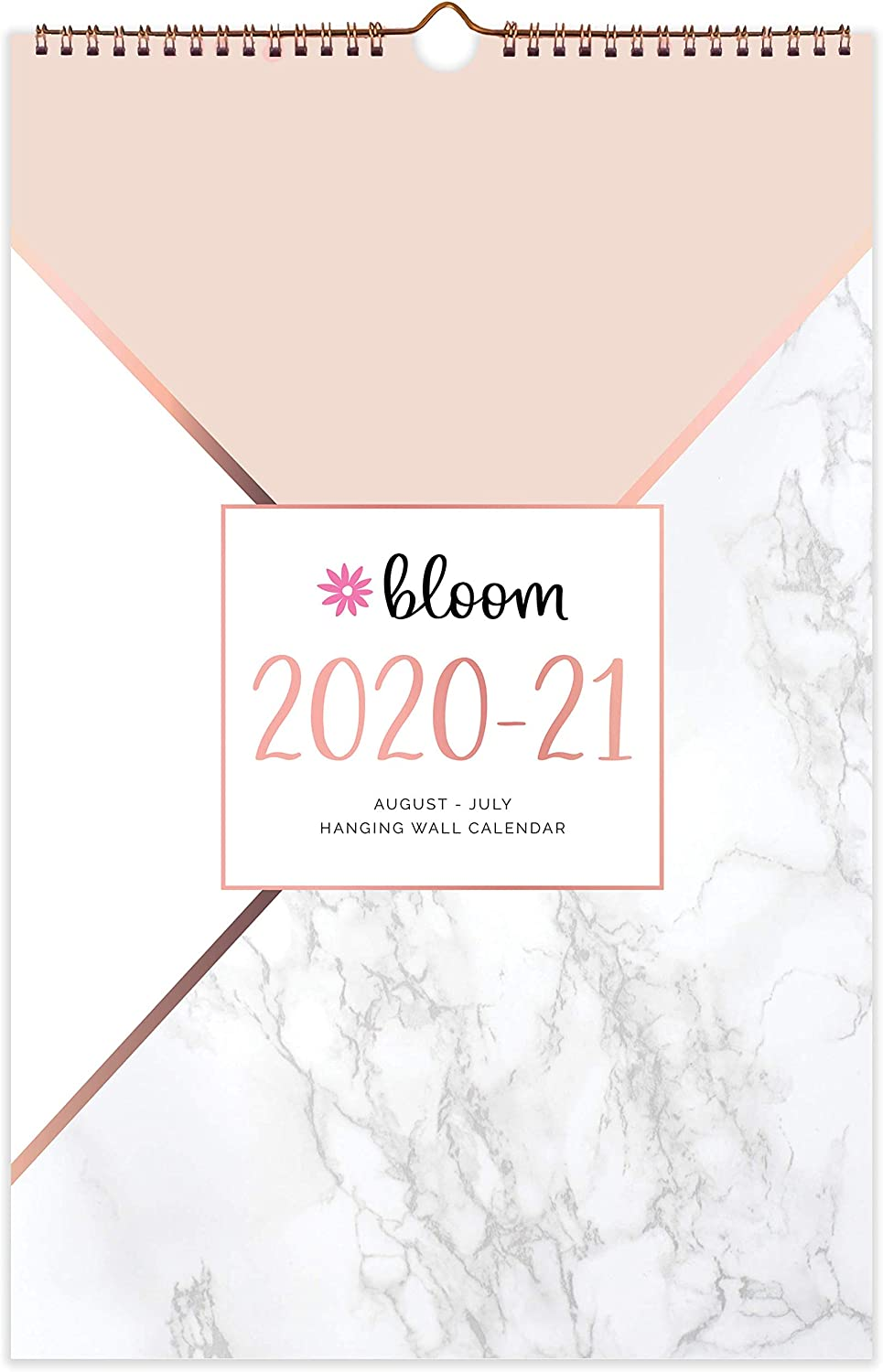 "bloom daily planners 2020-2021 Academic Year Monthly Hanging Wall Calendar (August 2020 Through July 2021) - 11"" x 17"" - Seasonal Designs"
