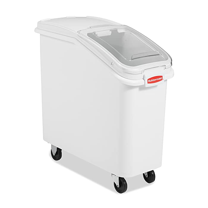 Rubbermaid Commercial ProSave Shelf-Storage Ingredient Bin With Scoop, Plastic, Stackable, 400-cup capacity, White, (FG360088WHT)
