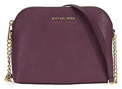 e0684cd8ebb284 Michael Kors Cindy Large Crossbody Bag- Damson: Handbags: Amazon.com