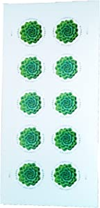 2017 USPS Global Green Succulent International Forever Stamps Sheet of 10
