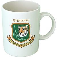 Upteetude Bangladesh Cricket Team Coffee Mug - White