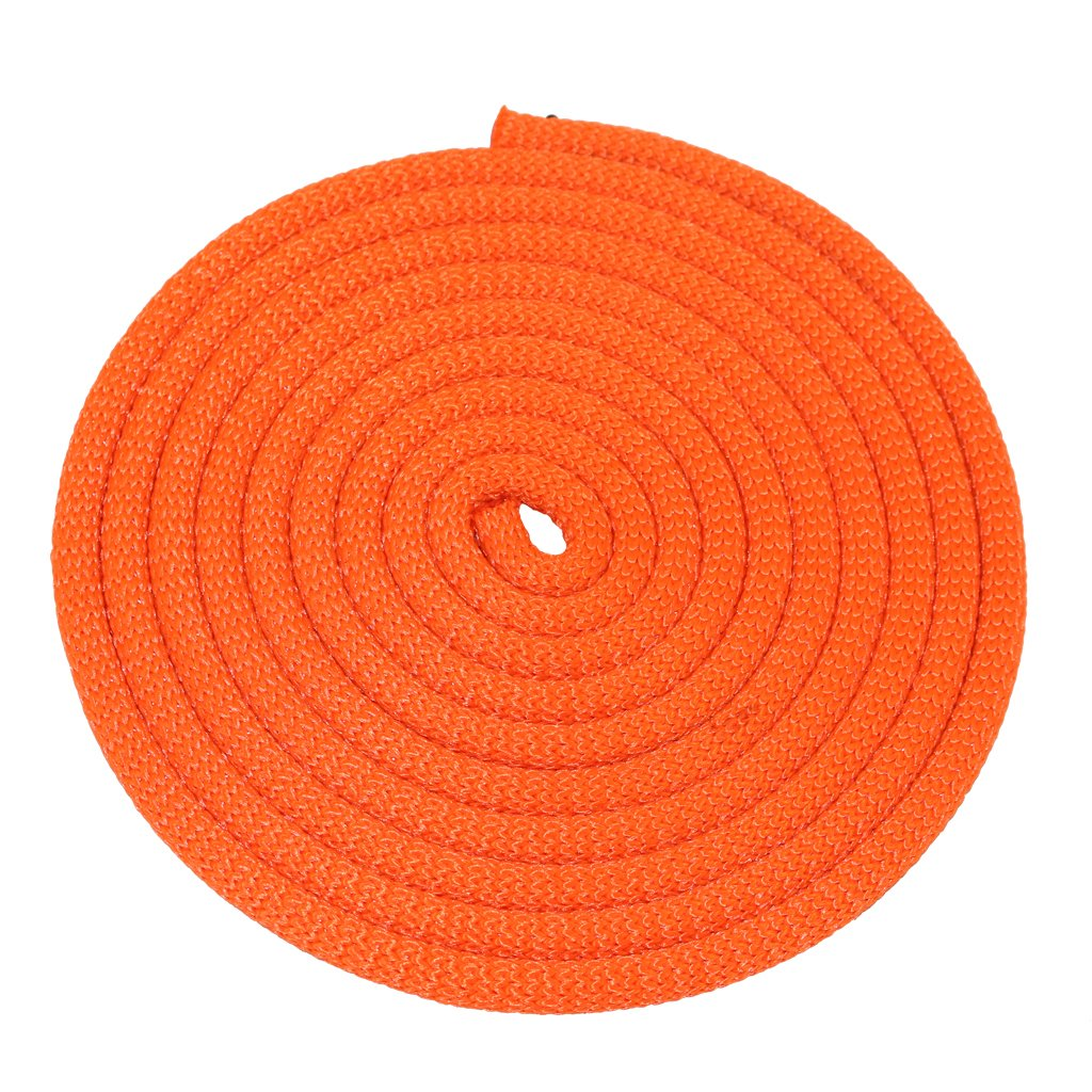 SGT KNOTS Dacron Polyester Utility Rope (3/8 inch) SuperSmooth Premium Cord - PolyDac Rope - for Mooring, Anchor Lines, Cargo Tie-Downs, DIY & Crafting Projects, More (100 feet - Neon Orange) by SGT KNOTS