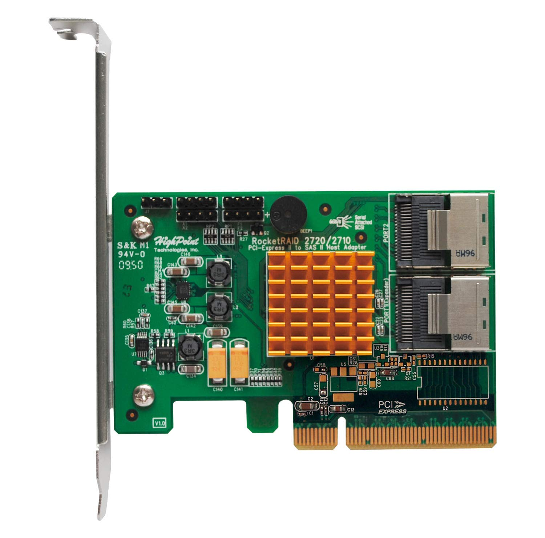 HighPoint RocketRAID 2720SGL 8-Port SAS 6Gb/s PCIe 2.0 x8 RA