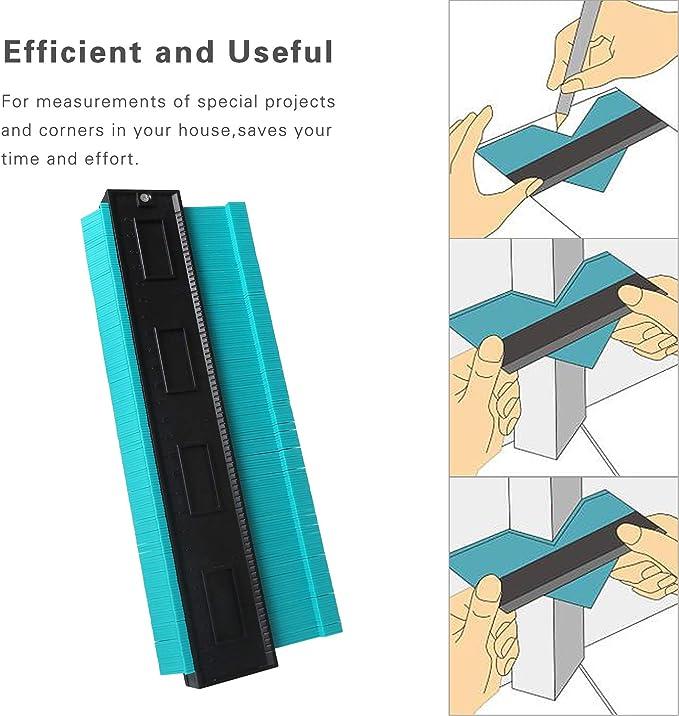 Medidor de Contornos, CETECK Contour Gauge Duplicator 250MM Medidor Contornos Ideal para Azulejos Edge Shaping Madera Medida & Azulejos laminados(Verde): Amazon.es: Bricolaje y herramientas