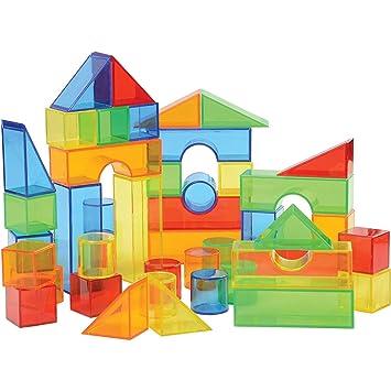 Juego de 50 Bloques de Colores translúcidos para construcción y ...