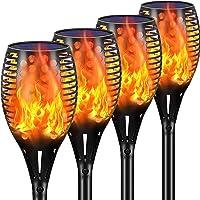 4-Pack Ambaret Outdoor Waterproof Flickering Flames Solar Spotlights