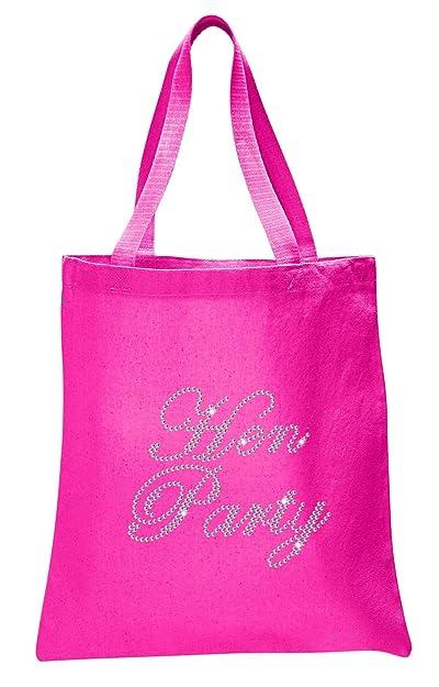 Amazon Fuschia Hen Party Luxury Crystal Bride Tote Bag Wedding