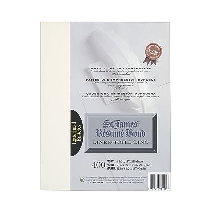 first base fst78156 resume bond paper 24 lb linen finish 8 1 2