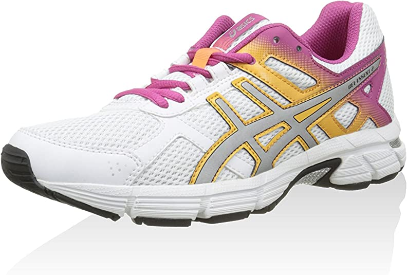 Asics Zapatillas Gel-Essent 2 Blanco/Plata/Fucsia EU 39.5: Amazon.es: Zapatos y complementos