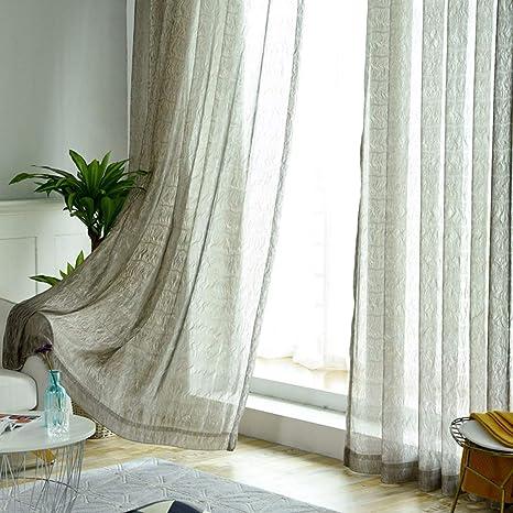 Wbxzal Vorhänge Halb Schattiger Vorhang Stoff Wohnzimmer Balkon