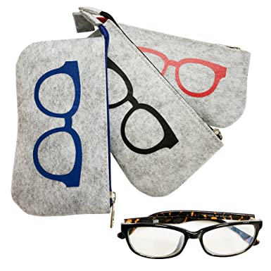 Amazon.com: Funda portátil con cremallera para gafas, bolsa ...