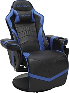 RESPAWN-900 Racing Style Gaming Recliner, Reclining Gaming Chair, in Blue (RSP-900-BLU)