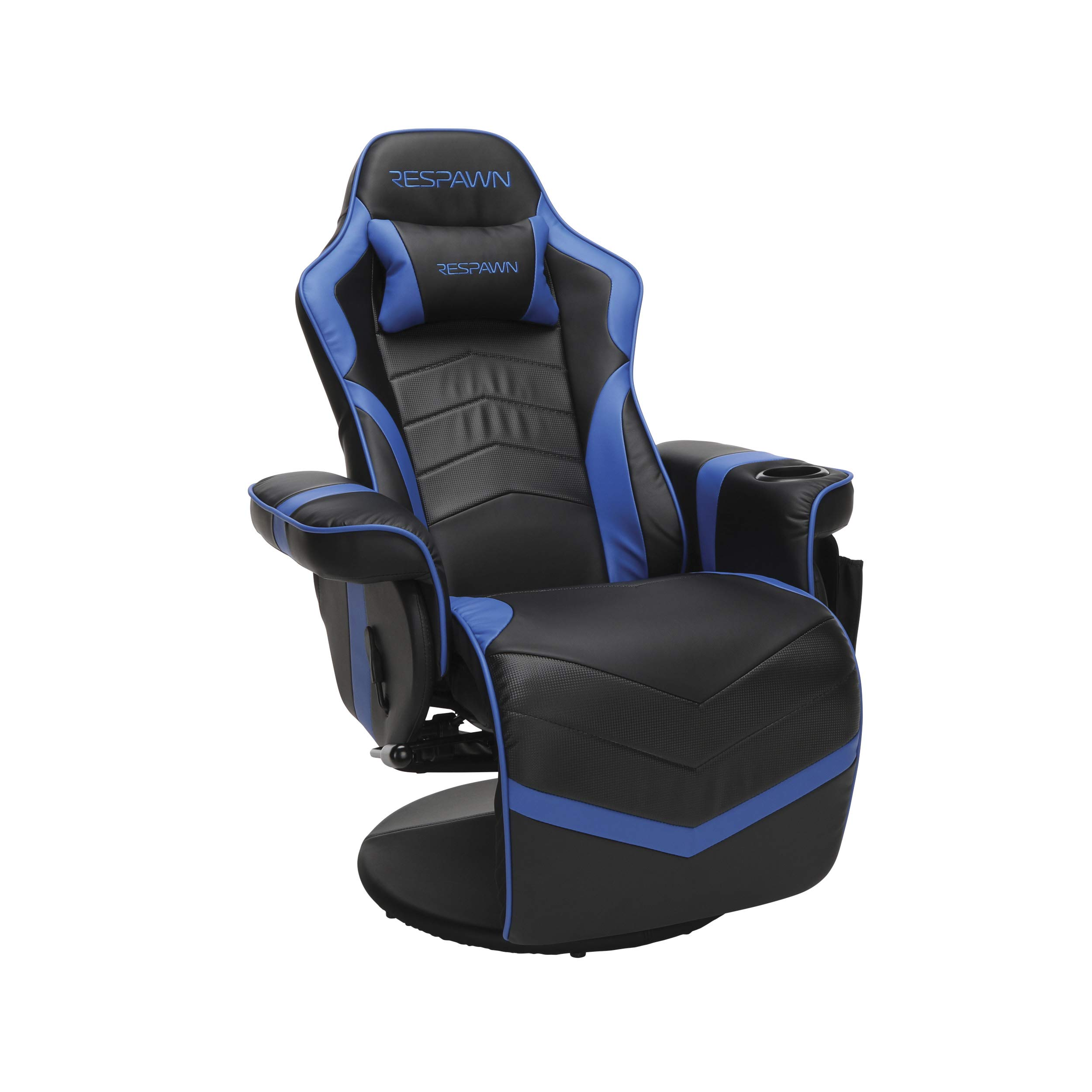RESPAWN-900 Racing Style Gaming Recliner, Reclining Gaming Chair, in Blue by RESPAWN