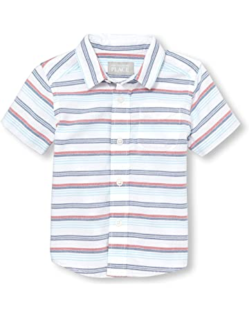 f7af94310a57 The Children s Place Baby Boys Short Sleeve Button Down