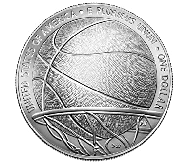 2020 P Basketball Hall of Fame Silver Proof Dollar Mint Packaged