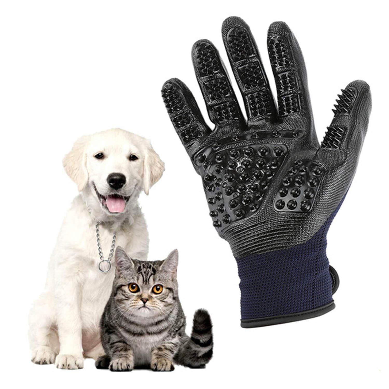 CoreLife Haustier-Badehandschuhe 1 Paar Handschuhe f/ür die Linke und rechte Hand zum Entfernen von Haaren und Fellb/ürsten sanfte Fellpflege
