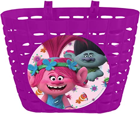 TROLLS niña – Cesta para Bicicleta, Color Rosa, One Size: Amazon ...