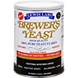 Lewis Labs Brewer's Yeast Flakes Powder, 12.35 Ounce (2 Pack)