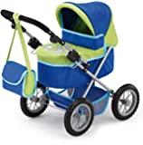 Bayer Design Doll Pram (Blue/ Green)