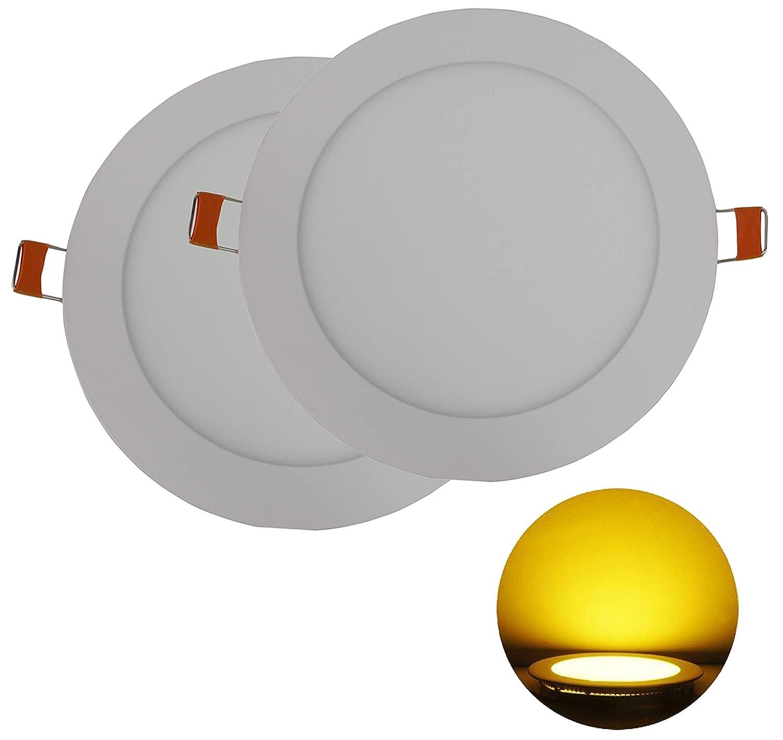 Hothome RPA6R Lot 2/spots /à encastrer LED 6/W Extra-plat Rond 120/mm 540 lm AC 220 V Blanc chaud