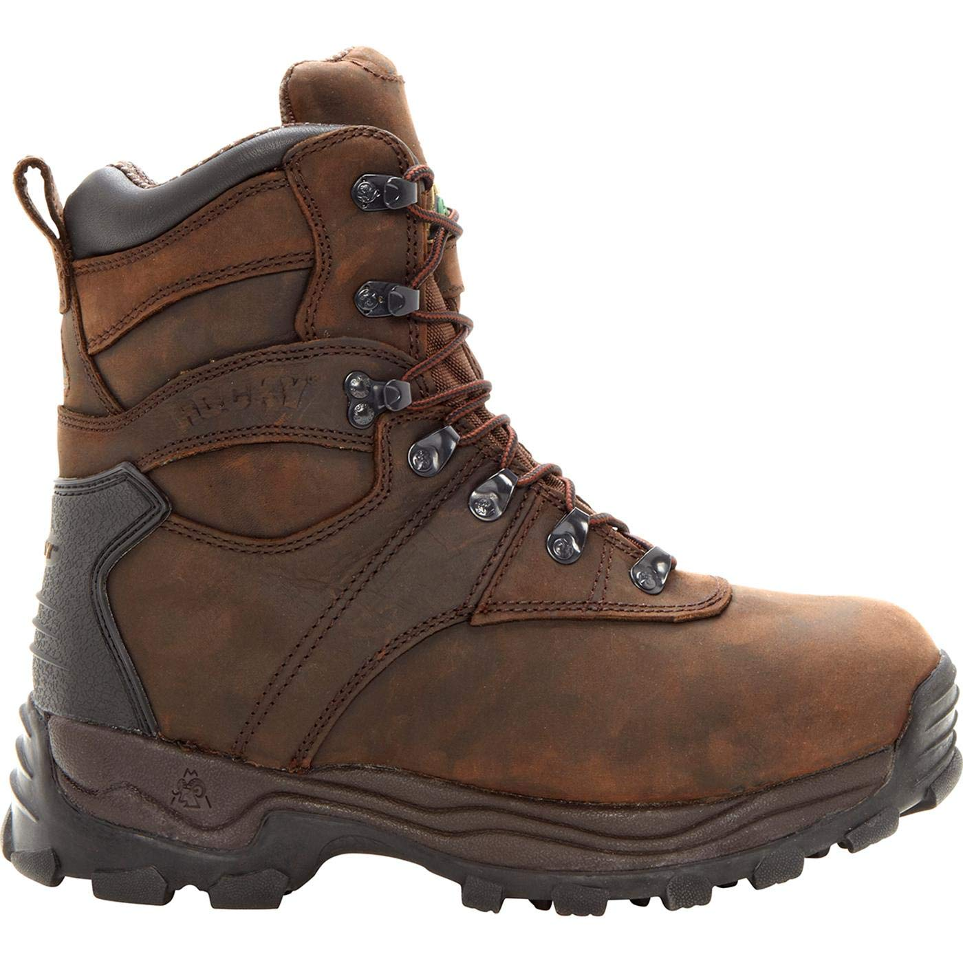 ROCKY Mens Sport Utility Eight Inch Brown-M