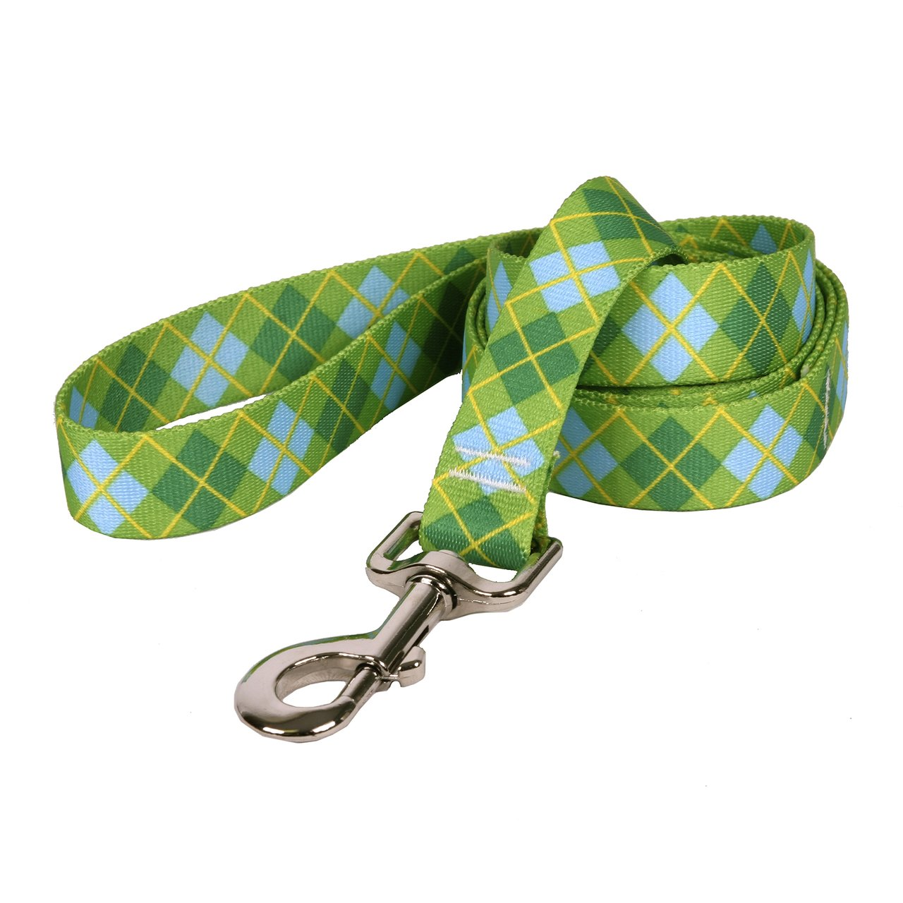 Yellow Dog Design Argyle Green Dog Leash