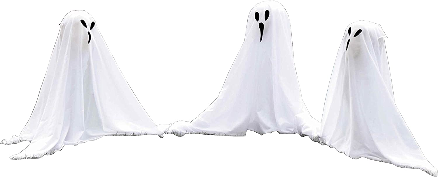 Fabric Ghost Yard Stakes