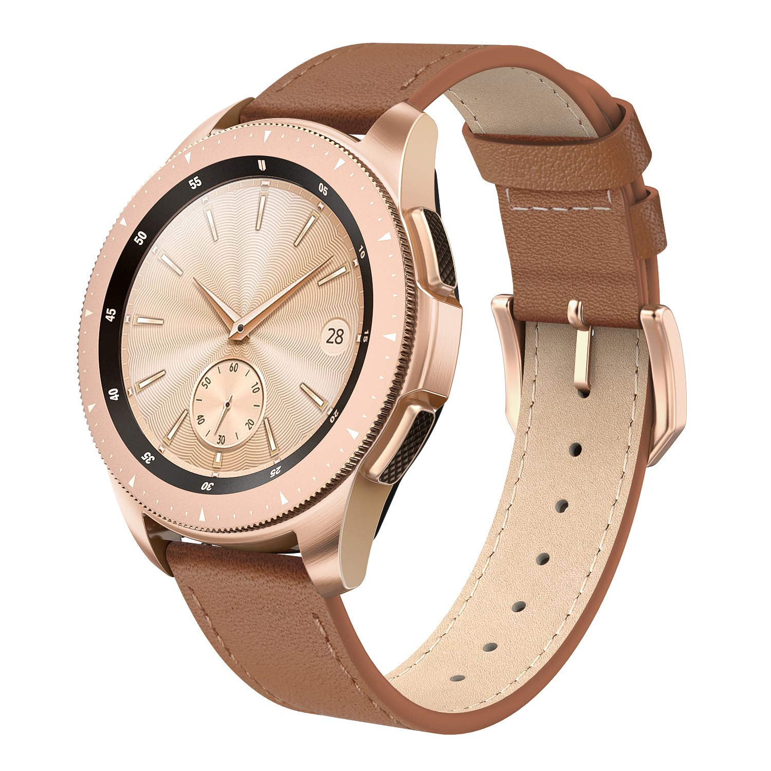 SWEES Leather Band Compatible for Galaxy Watch 42mm, 20mm Genuine Leather Bands Wristband Strap with Quick Release for Samsung Galaxy Smartwatch 42mm ...
