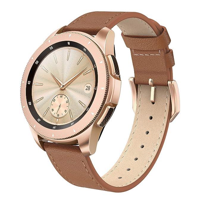 SWEES - Correa de Piel Compatible con Reloj Galaxy de 42 mm, 20 mm ...