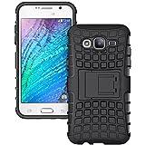 RKMOBILES Samsung Galaxy J5 SM-J500F Shock Absorption Hybrid Armor Protection Defender Back Cover Case- Black (For Samsung Galaxy J5 SM-J500F )