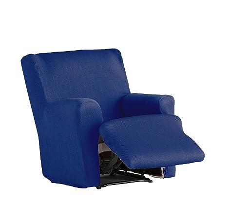 Eysa - Funda de sillón pies Juntos elástica Ulises - Color Azul