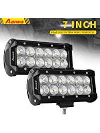 Amazon light bars accent off road lighting automotive led light baraaiwa 7inch 36w flood led off road lights led working light waterproof aloadofball Gallery