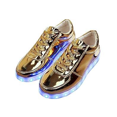 UK LED Flashing Trainers Unisex Light USB Lace Up Sneakers Luminous Casual Shoes