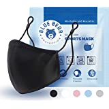 Blue Bear Protection Reusable Sports Face Mask with Adjustable Ear Loop — Single Cotton Face Mask Treated with SILVADUR…