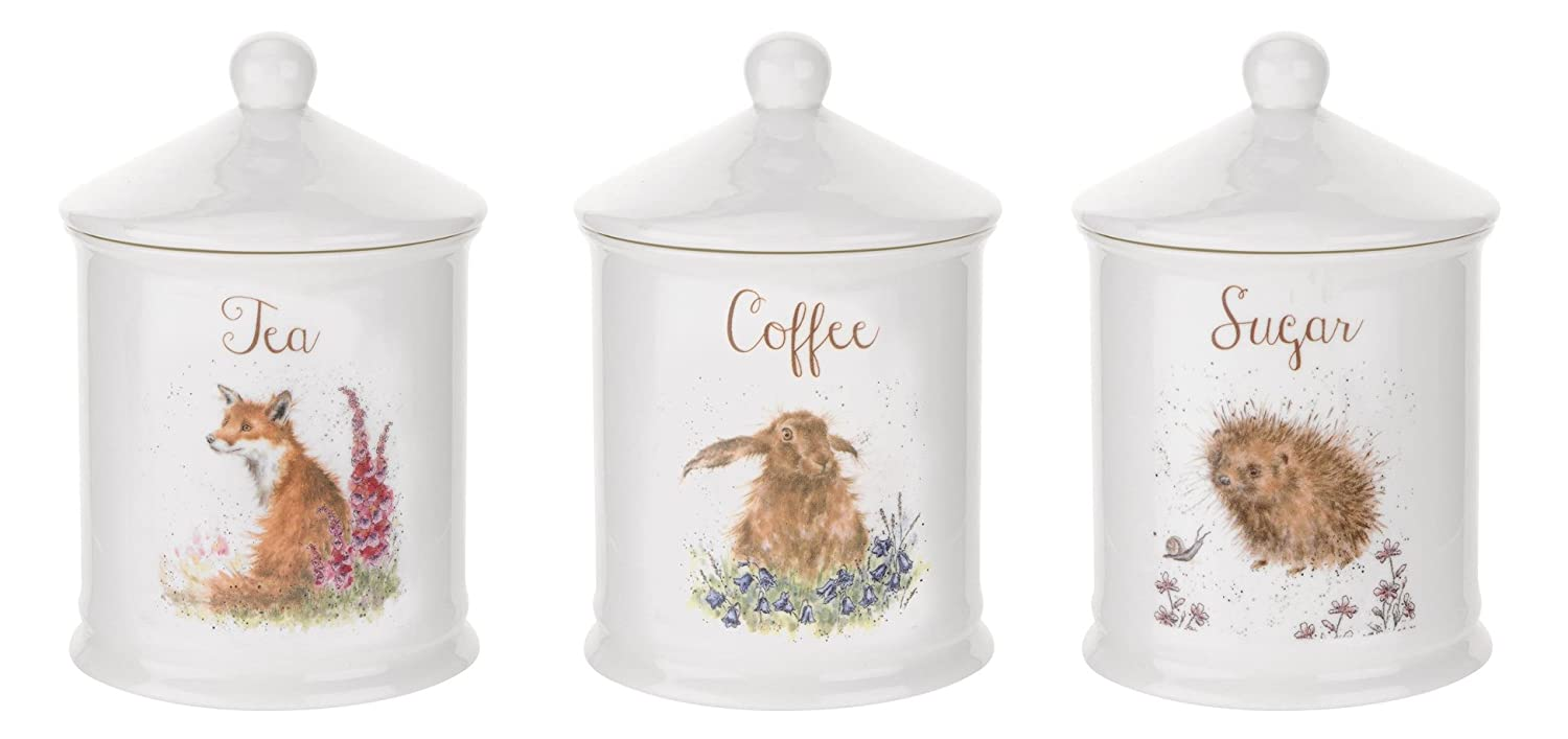 Coffee and Sugar Cannisters Wrendale Tea
