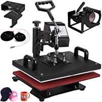 VEVOR Heat Presses 12 X 15 inch 5 in 1 Digital Multifunctional Sublimation T Shirt Heat Press Machine 900W 360 Degree Rotation Heat Press Machine for T Shirts Hat Mug Cap Plate (12x15INCH 5IN1 Blue)