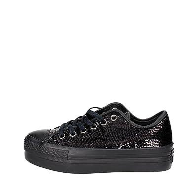 21a4b8e6a7e58 Converse Chuck Taylor All Star Platform Ox Sneaker Black Sequin (6 B US)