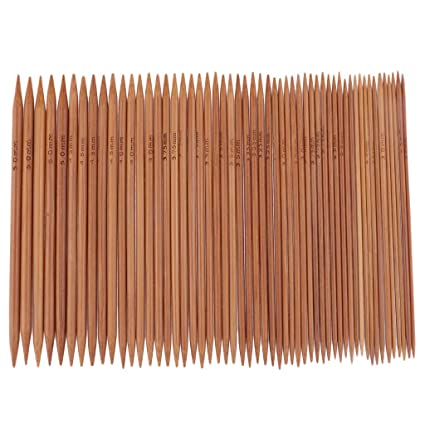 2 Pieces Bamboo Single Pointed Knitting Needles Sizes 20mm